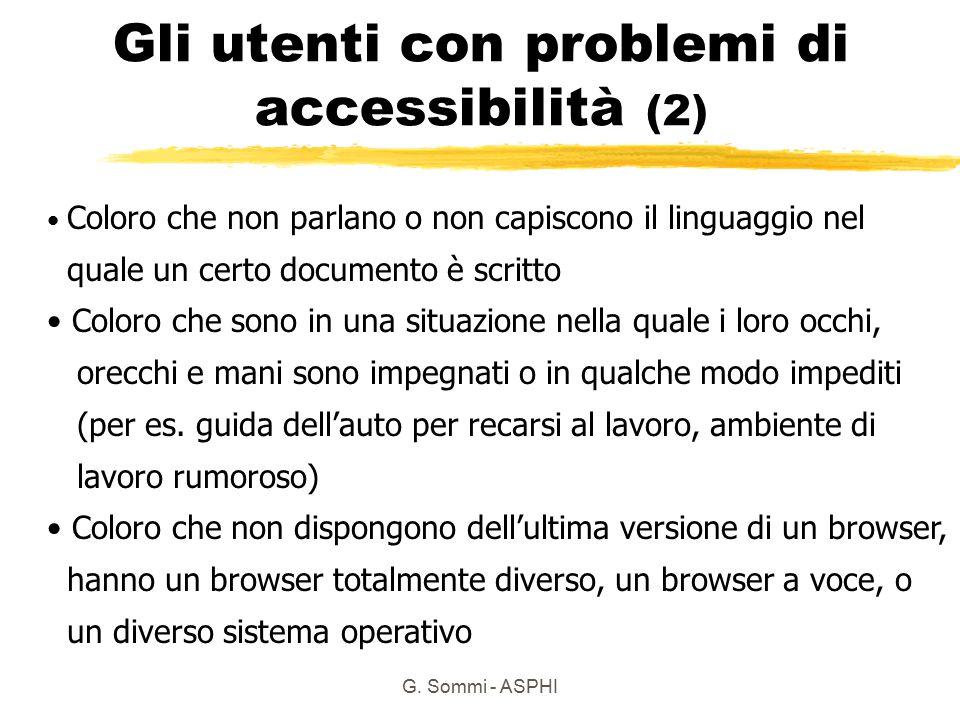 Gli utenti con problemi di accessibilità (2)