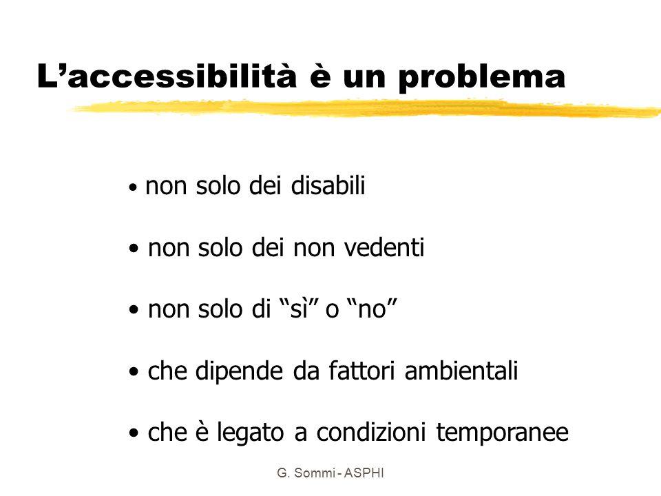 L'accessibilità è un problema