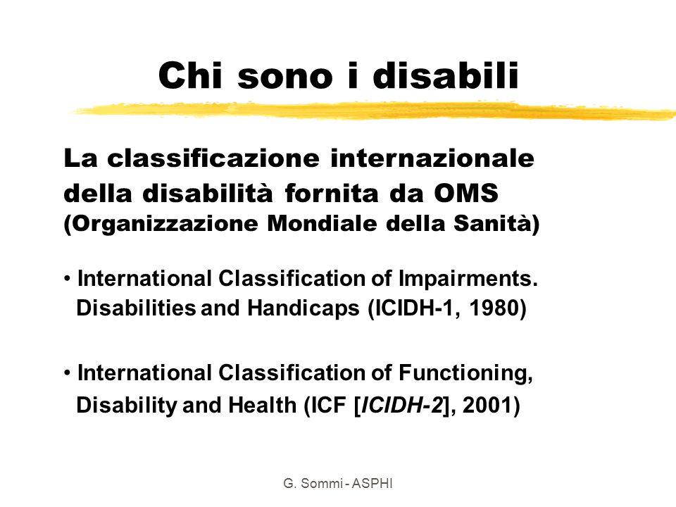 Chi sono i disabili La classificazione internazionale