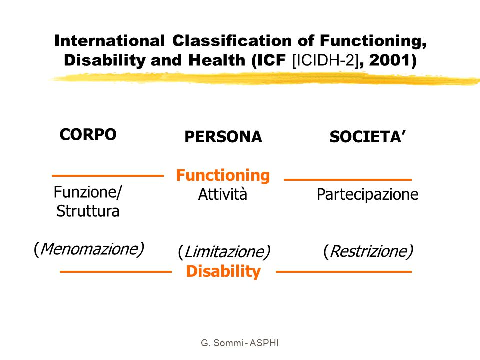 CORPO PERSONA Functioning Disability SOCIETA'