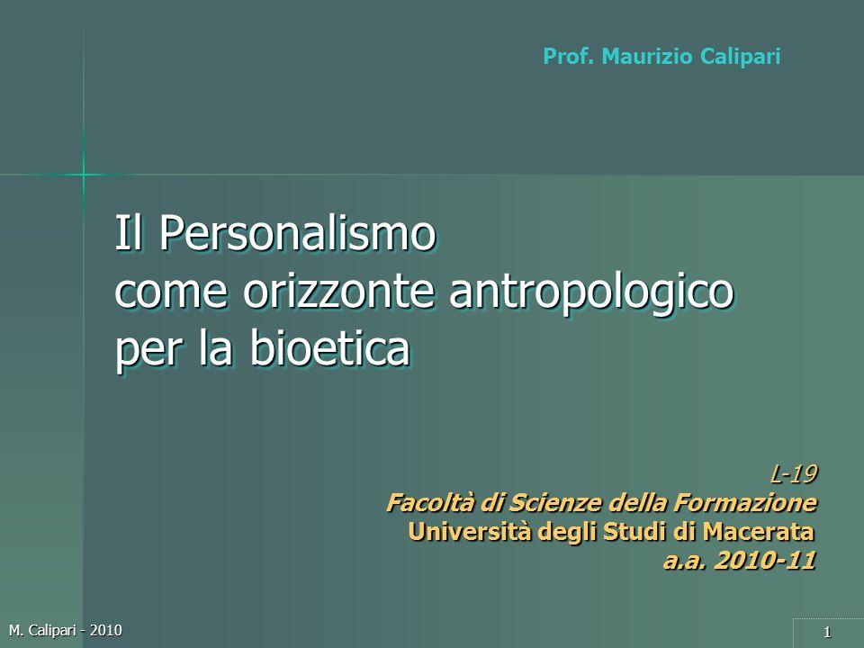 Il Personalismo come orizzonte antropologico per la bioetica