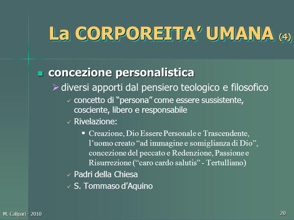 La CORPOREITA' UMANA (4)