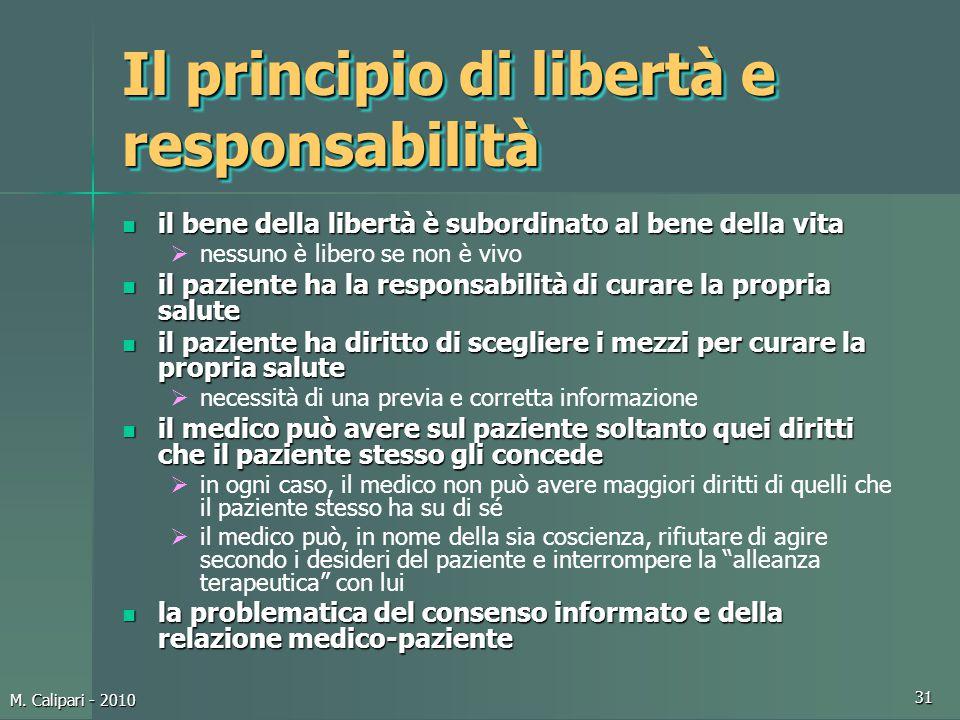 Il principio di libertà e responsabilità