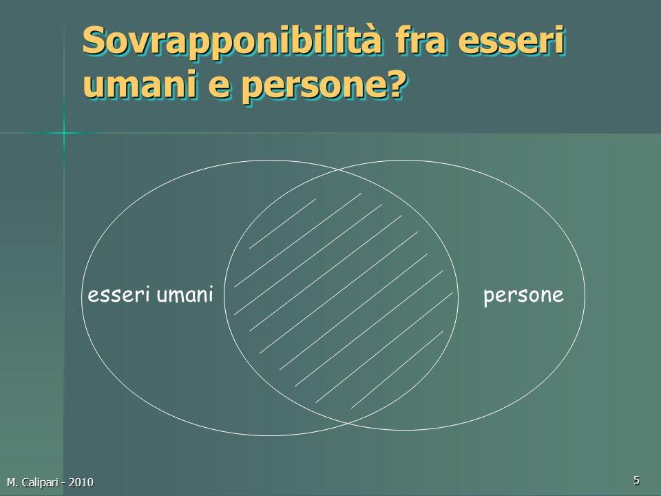 Sovrapponibilità fra esseri umani e persone