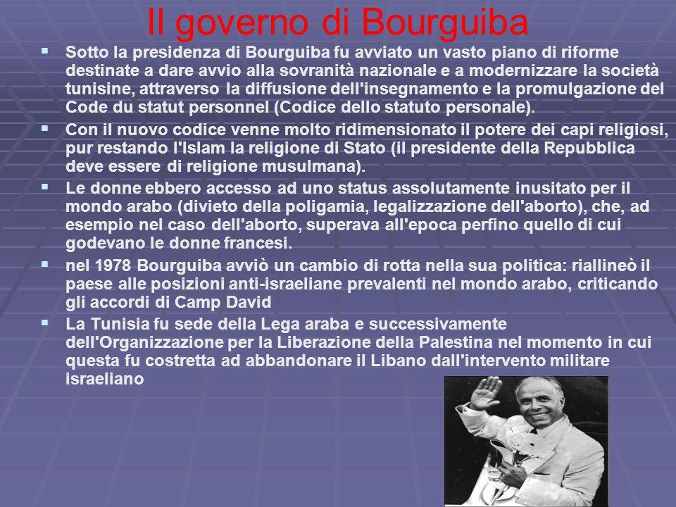 Il governo di Bourguiba
