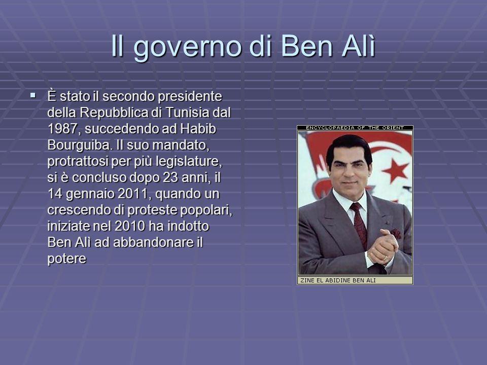 Il governo di Ben Alì