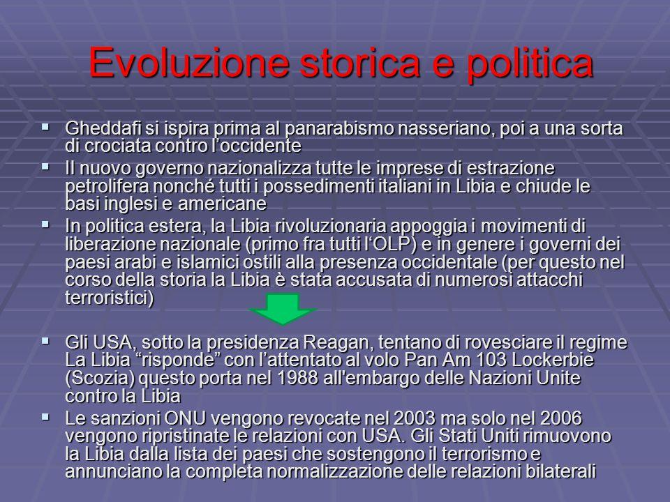 Evoluzione storica e politica