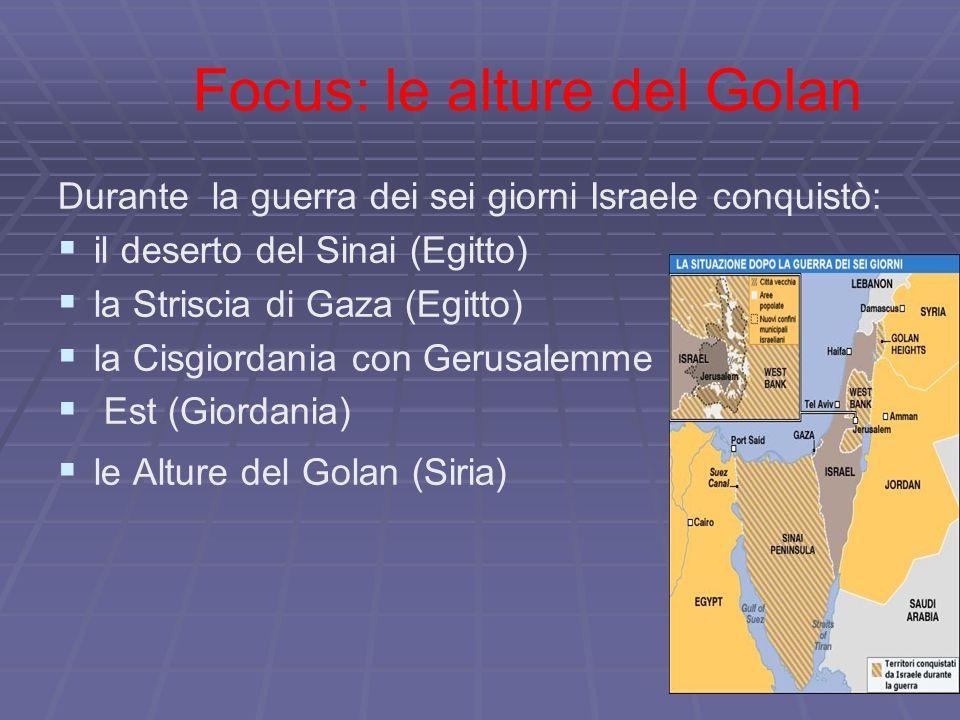 Focus: le alture del Golan
