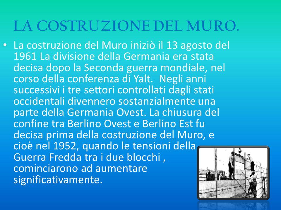 LA COSTRUZIONE DEL MURO.