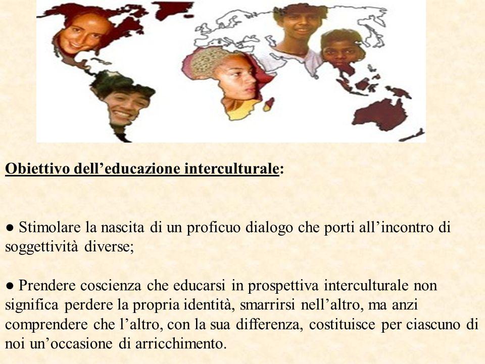 Obiettivo dell'educazione interculturale: