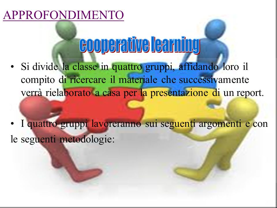 cooperative learning APPROFONDIMENTO