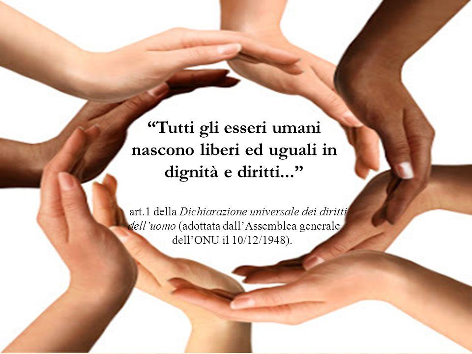 Tutti gli esseri umani nascono liberi ed uguali in dignità e diritti