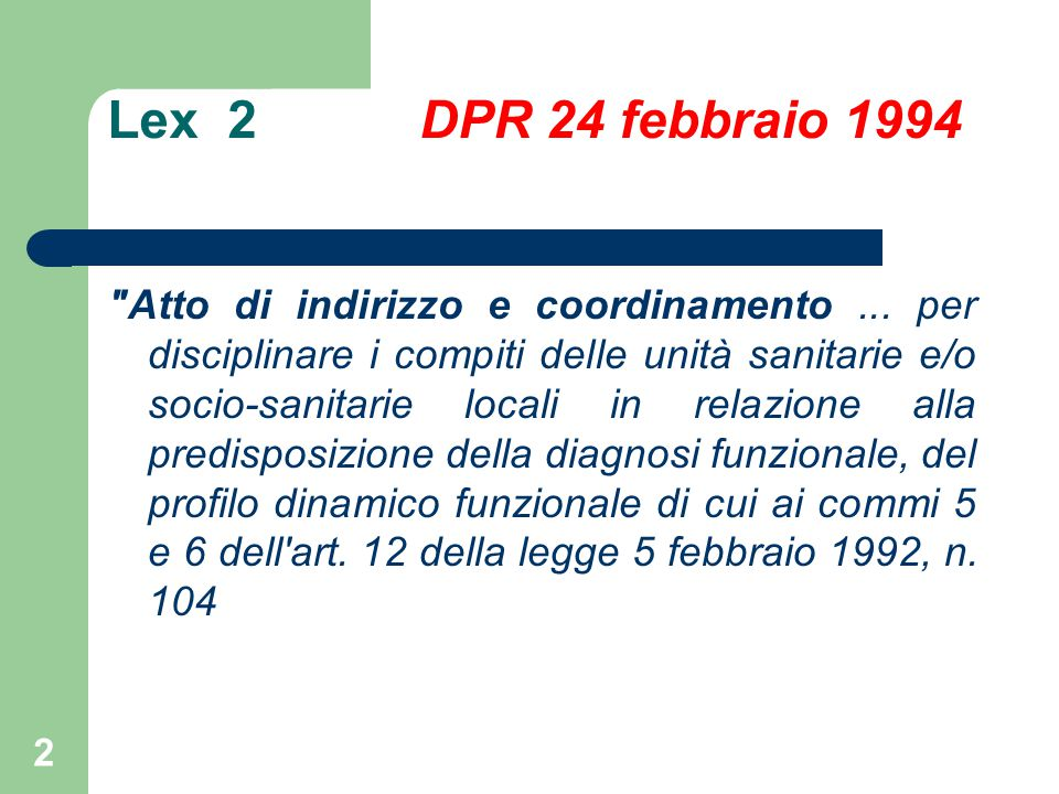 Lex 2 DPR 24 febbraio 1994