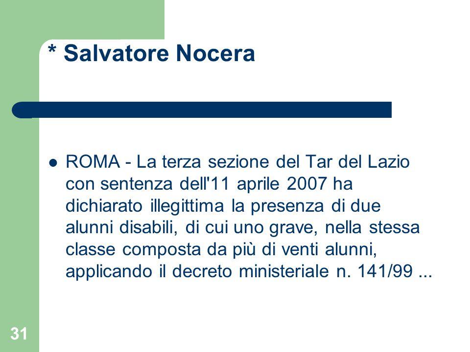 * Salvatore Nocera