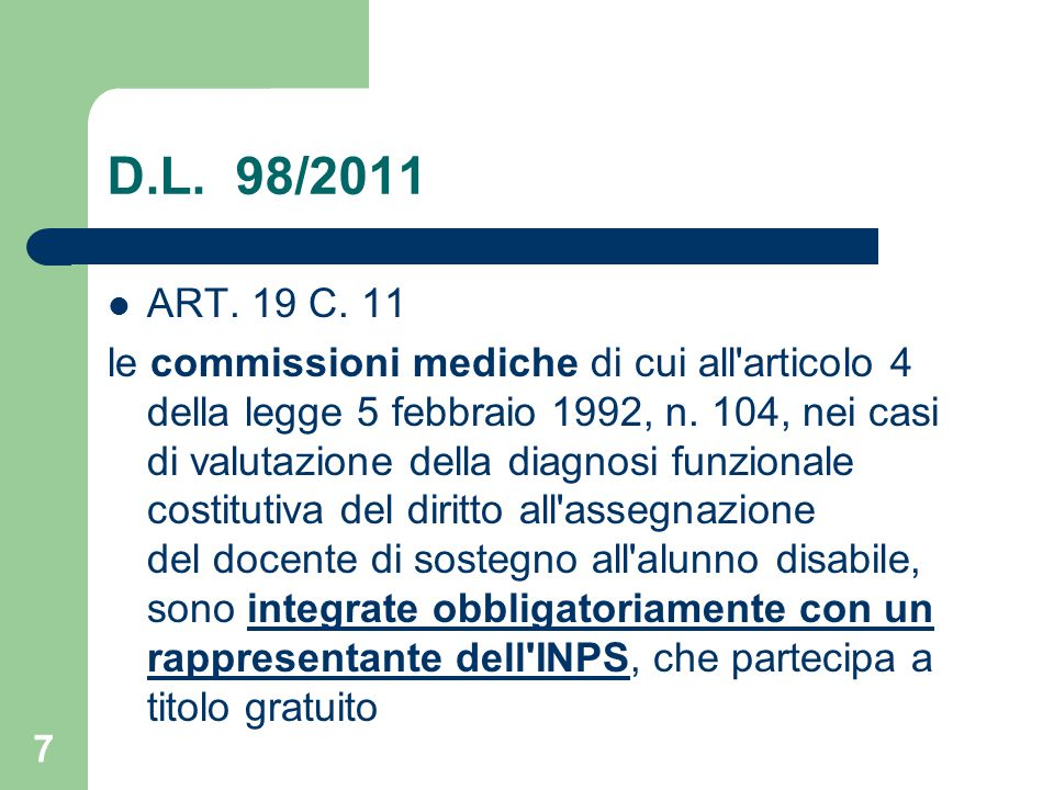 D.L. 98/2011 ART. 19 C. 11.