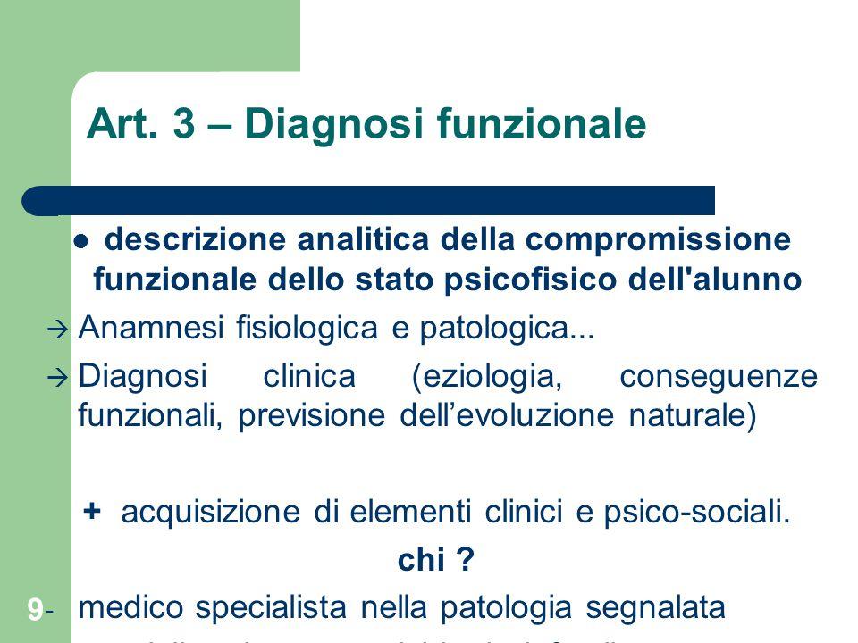 Art. 3 – Diagnosi funzionale
