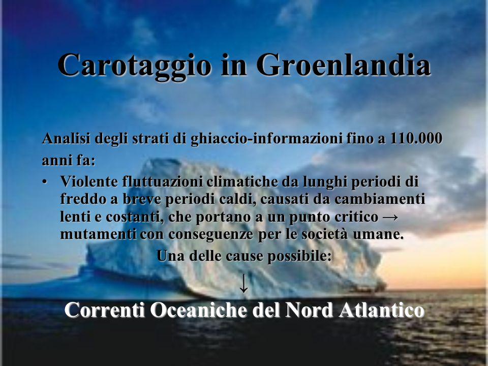 Carotaggio in Groenlandia