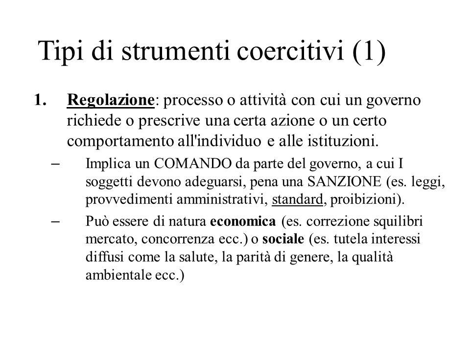 Tipi di strumenti coercitivi (1)