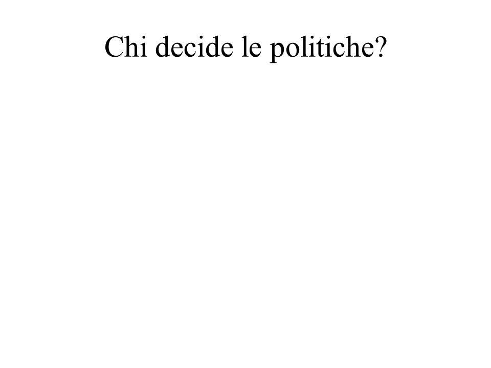 Chi decide le politiche