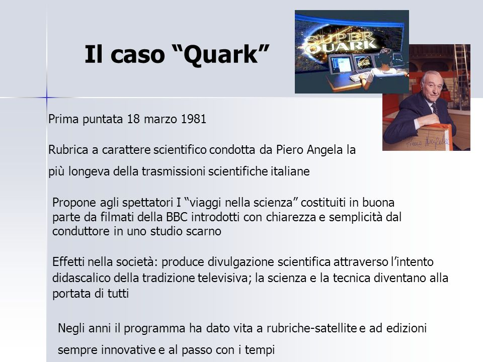 Il caso Quark Prima puntata 18 marzo 1981