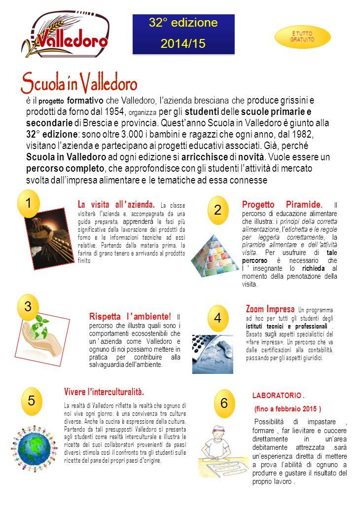 1 2 3 4 5 6 Scuola in Valledoro 32° edizione 2014/15