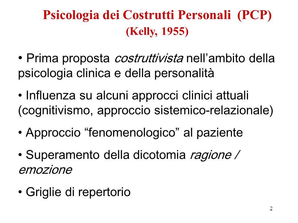 Psicologia dei Costrutti Personali (PCP) (Kelly, 1955)