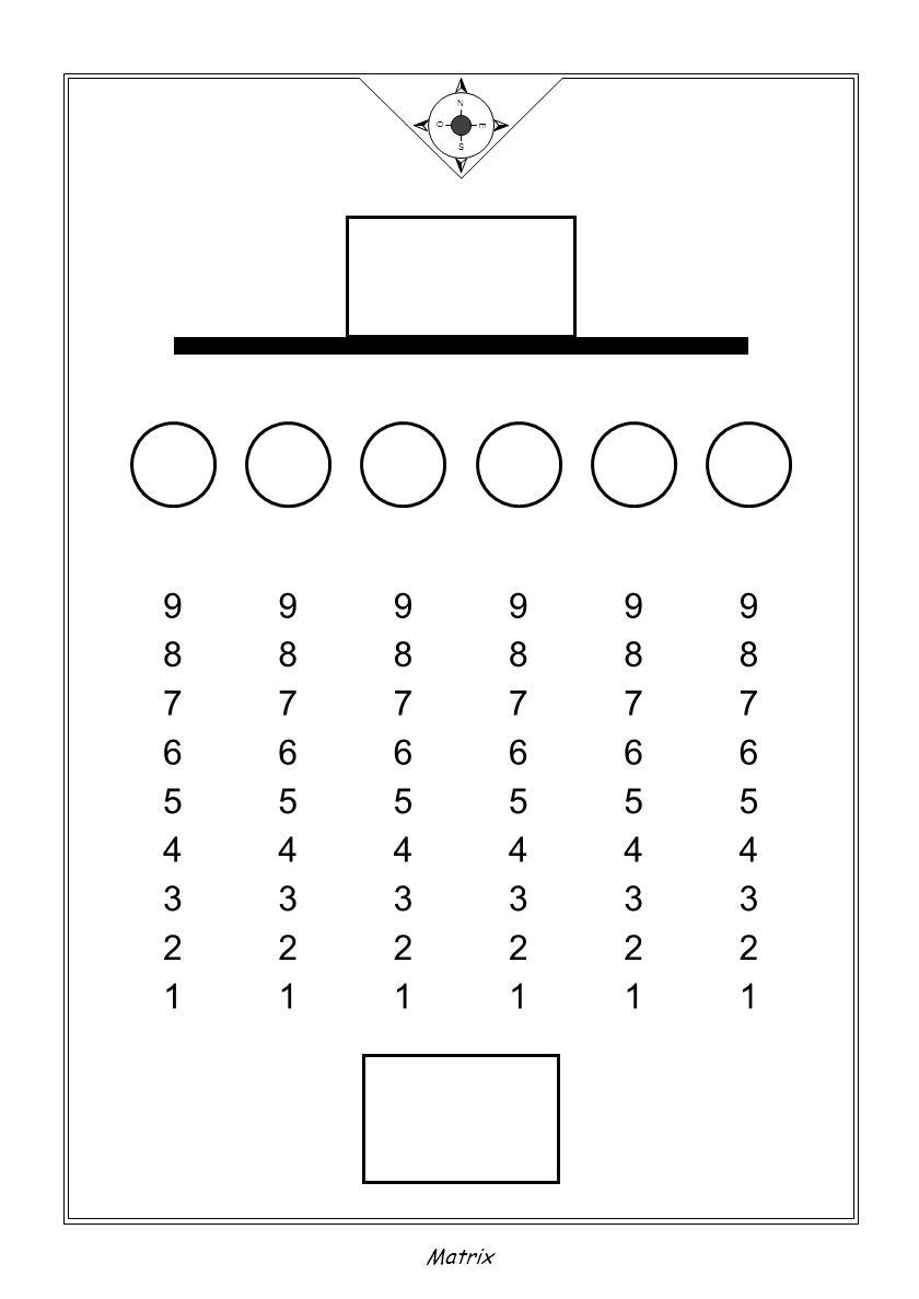 N S E O Matrix 9 8 5 7 6 1 4 2 3