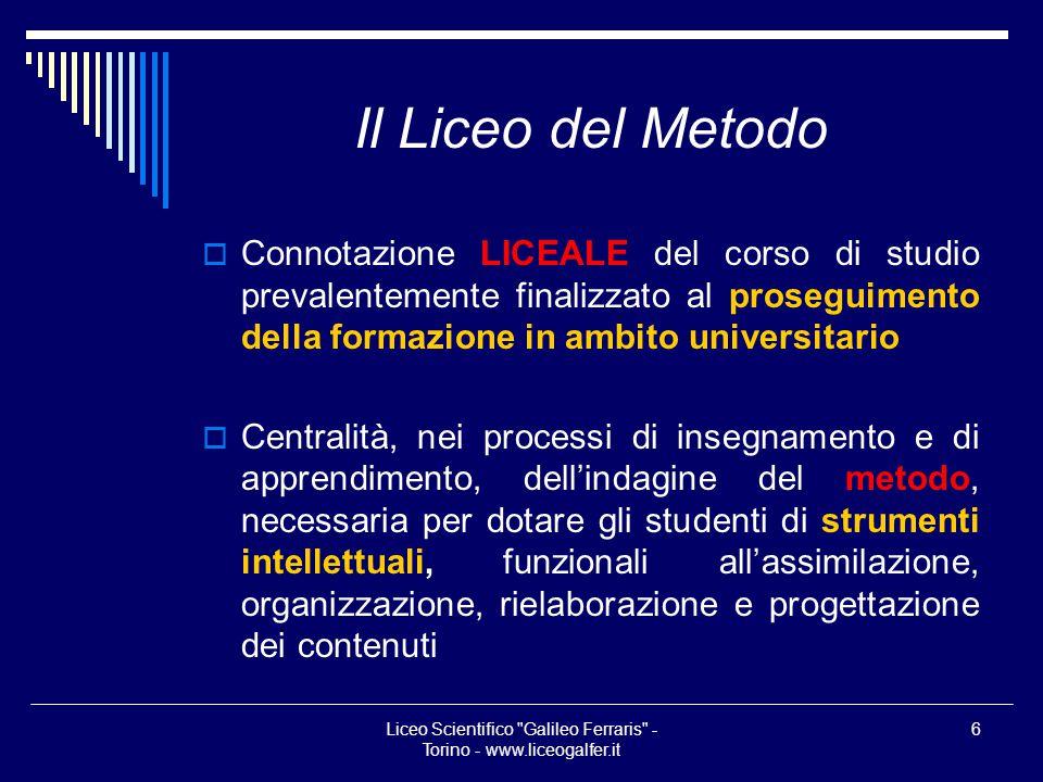 Liceo Scientifico Galileo Ferraris - Torino - www.liceogalfer.it
