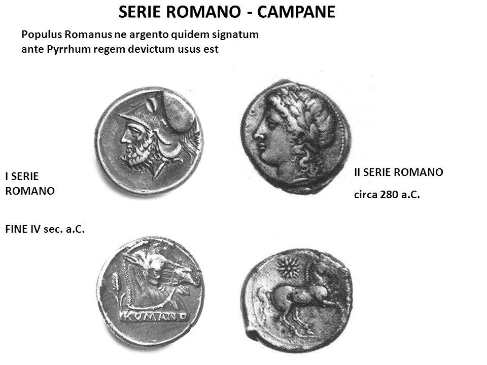 SERIE ROMANO - CAMPANE Populus Romanus ne argento quidem signatum