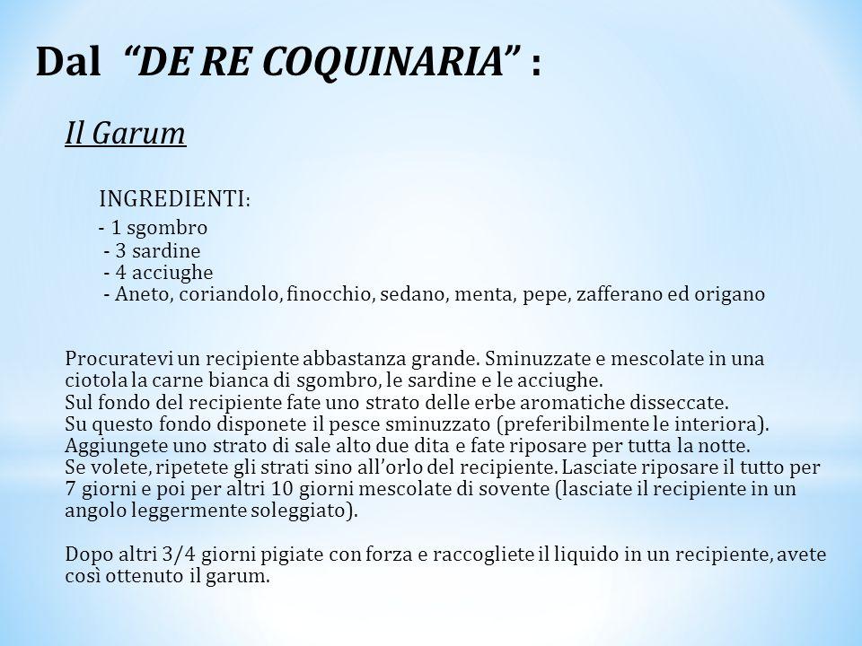 Dal DE RE COQUINARIA :