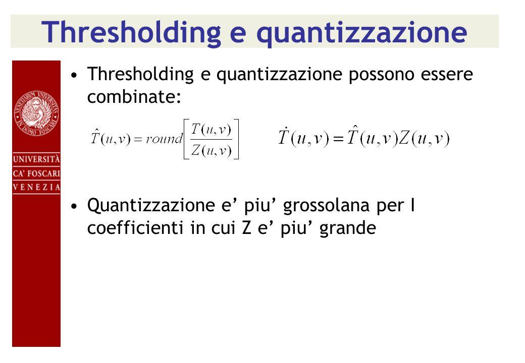 Thresholding e quantizzazione