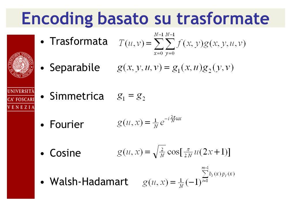 Encoding basato su trasformate
