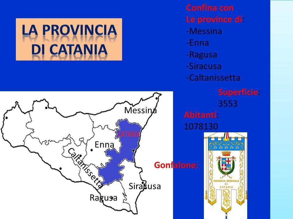 La provincia di Catania