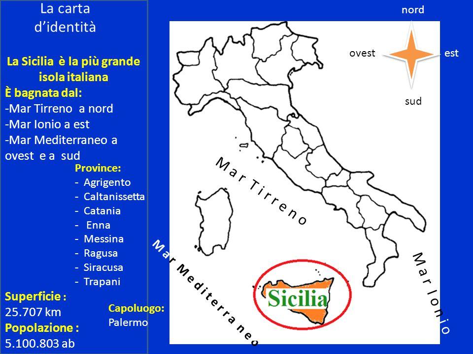 La Sicilia è la più grande isola italiana