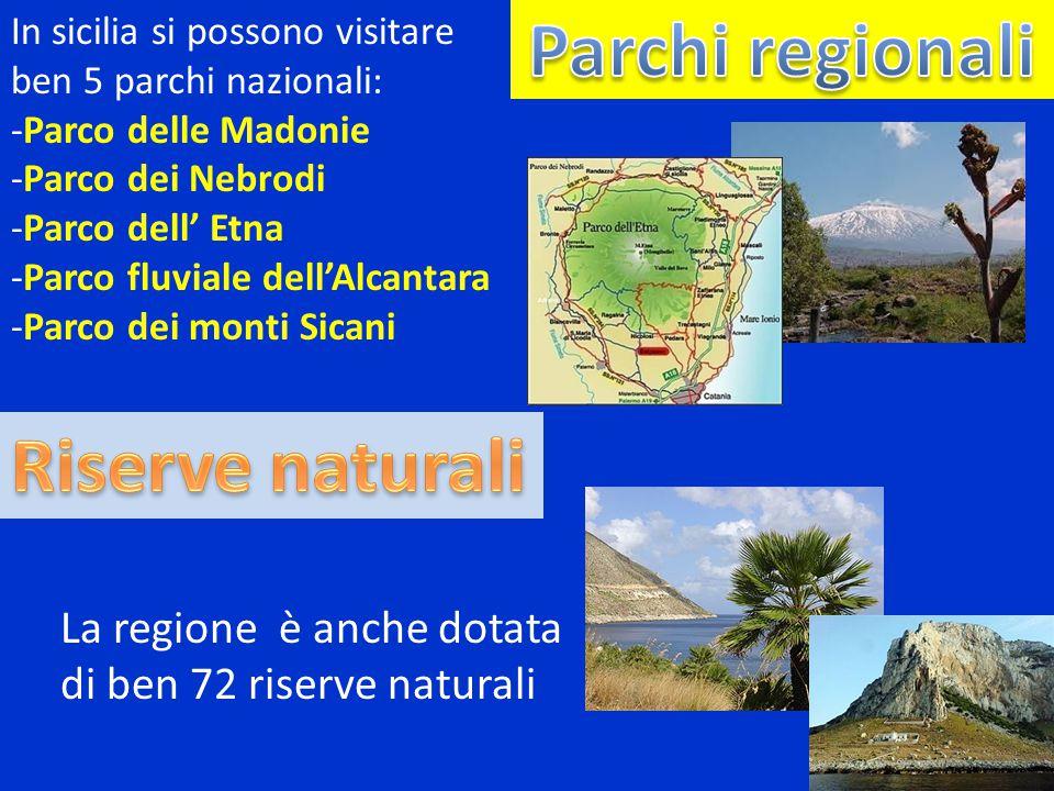 Parchi regionali Riserve naturali