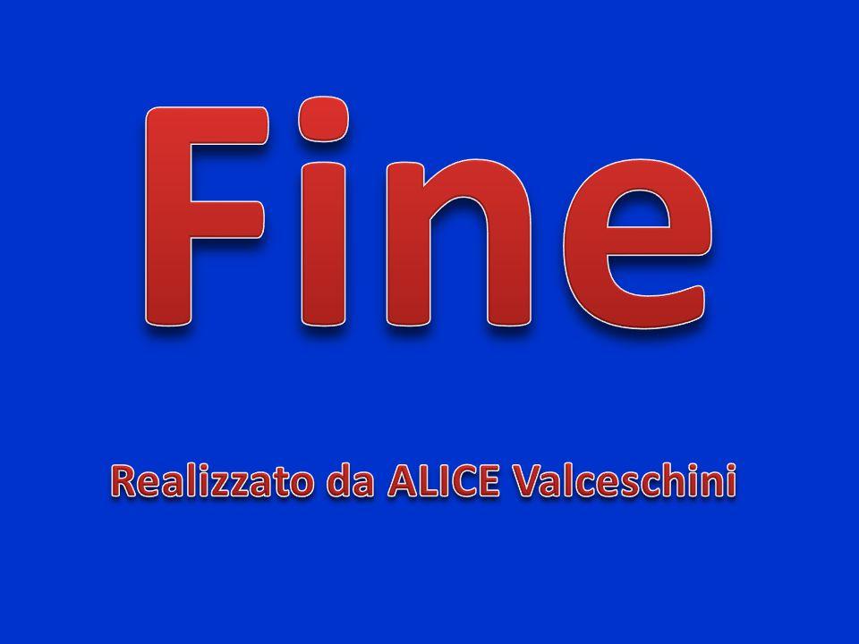 Fine Realizzato da ALICE Valceschini