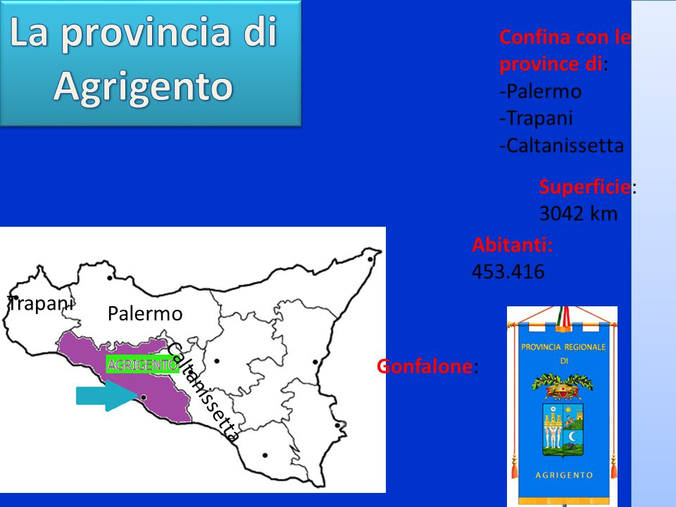 La provincia di Agrigento