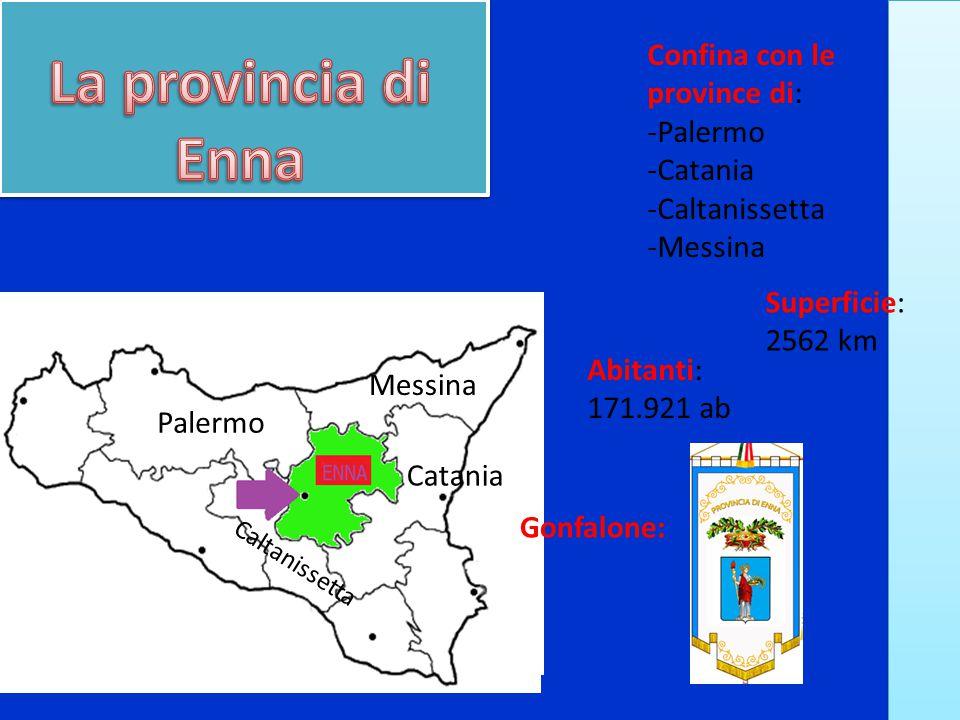 La provincia di Enna Confina con le province di: -Palermo -Catania
