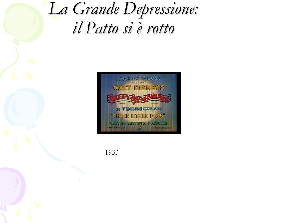 La Grande Depressione: il Patto si è rotto