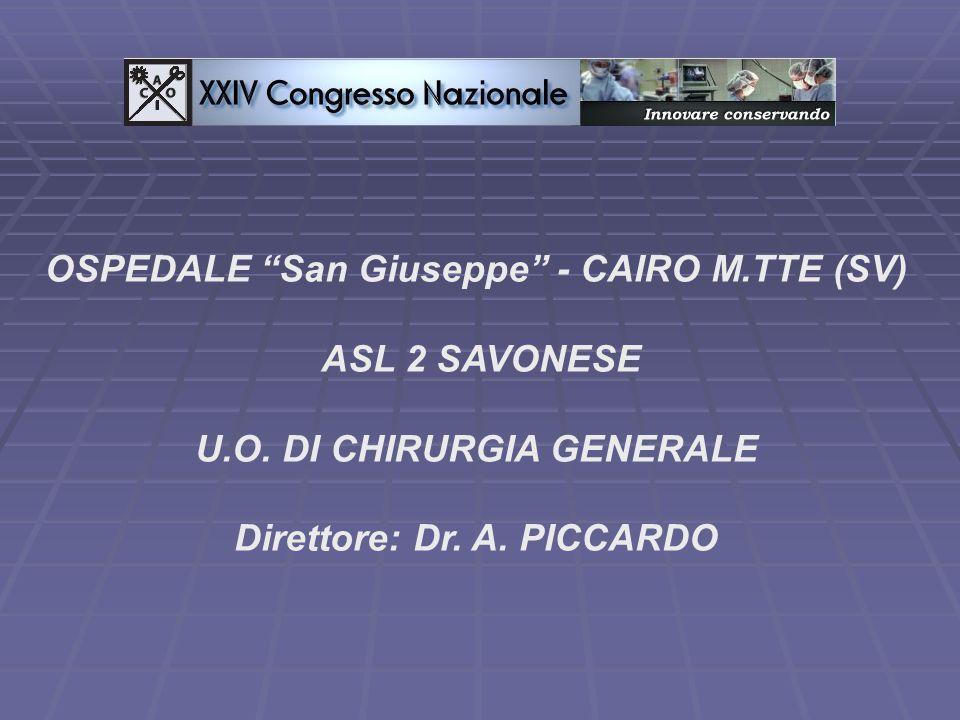 OSPEDALE San Giuseppe - CAIRO M.TTE (SV) ASL 2 SAVONESE
