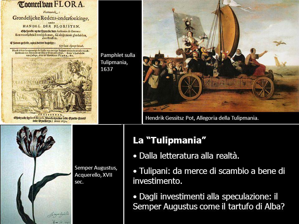 La Tulipmania Dalla letteratura alla realtà.