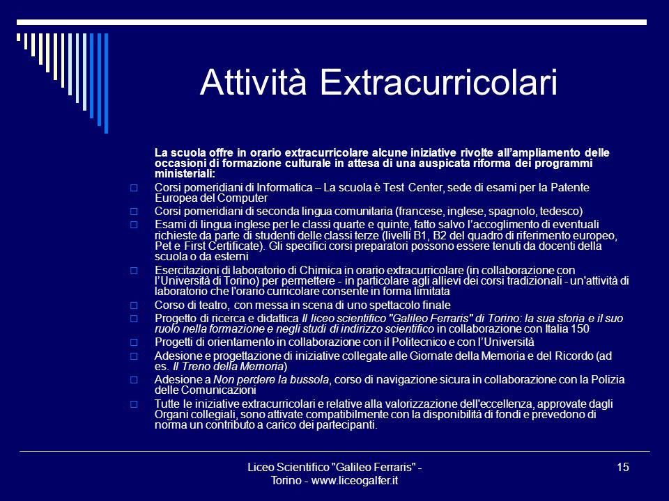 Attività Extracurricolari