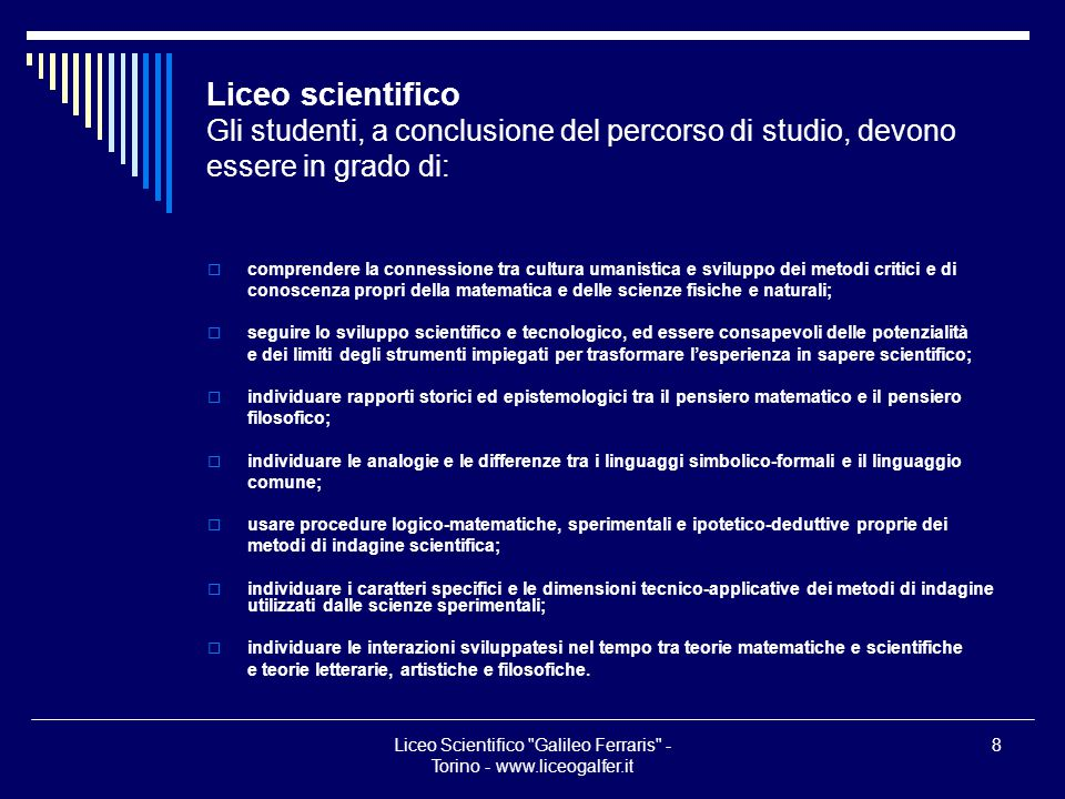 Liceo Scientifico Galileo Ferraris - Torino - www.liceogalfer.it