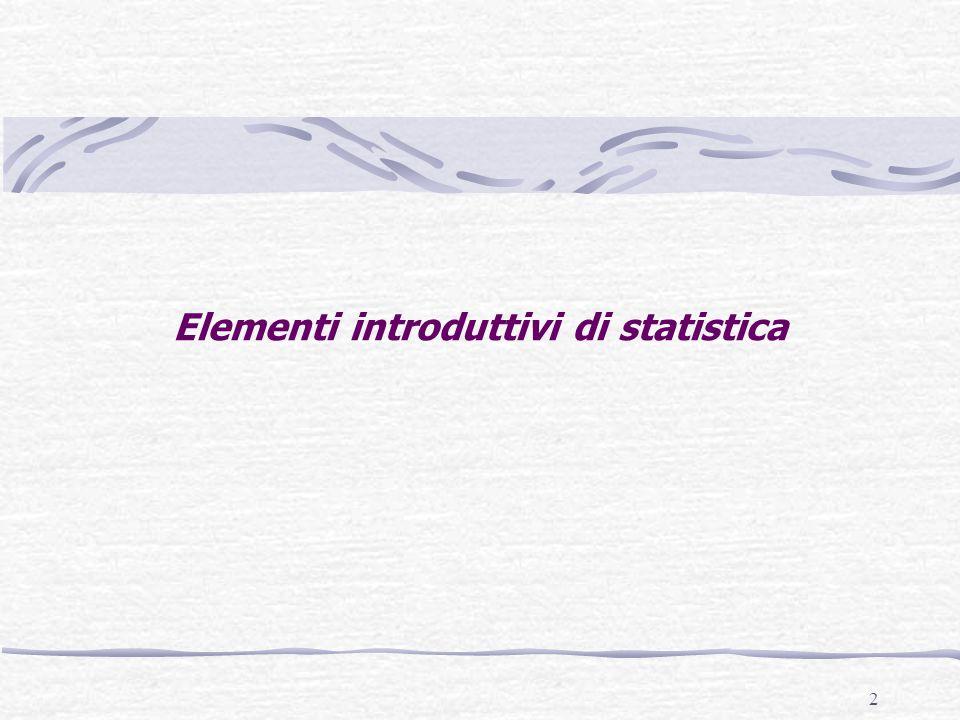 Elementi introduttivi di statistica