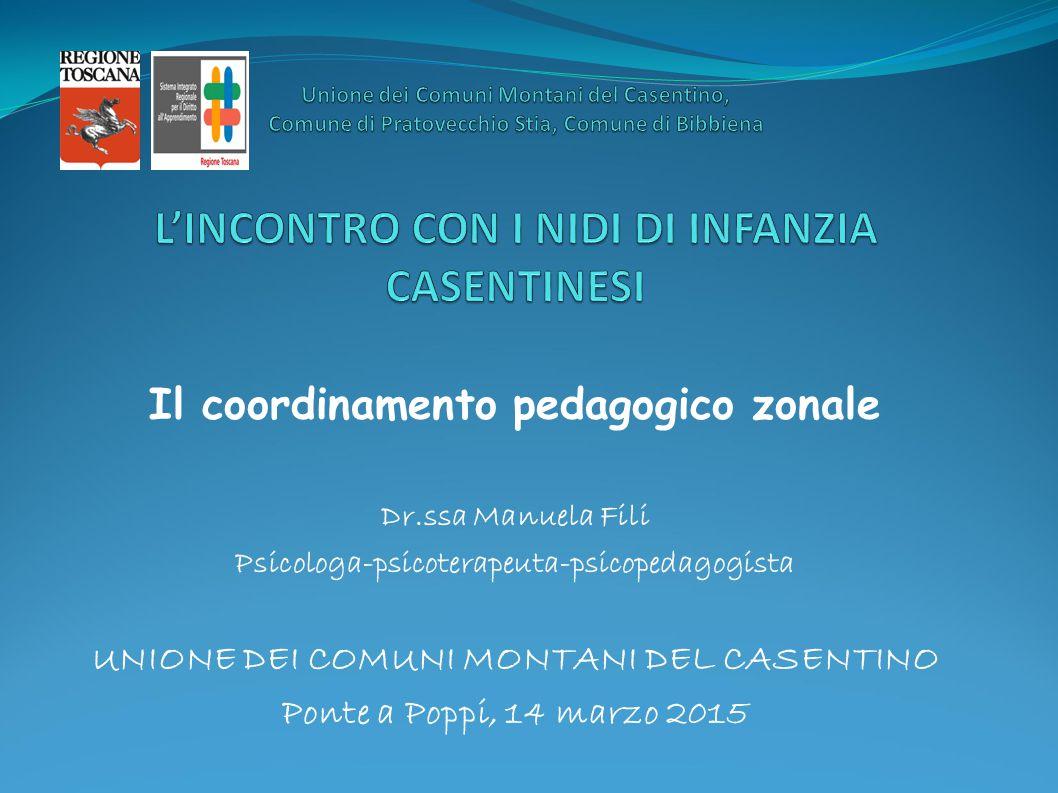 Il coordinamento pedagogico zonale