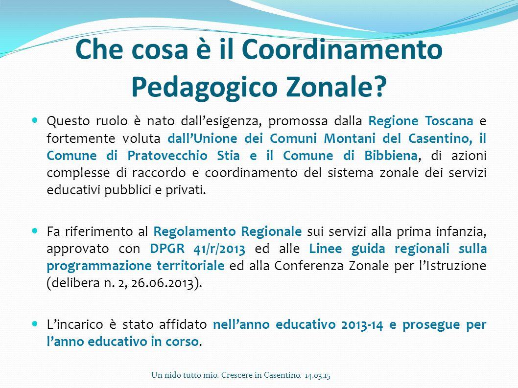 Che cosa è il Coordinamento Pedagogico Zonale