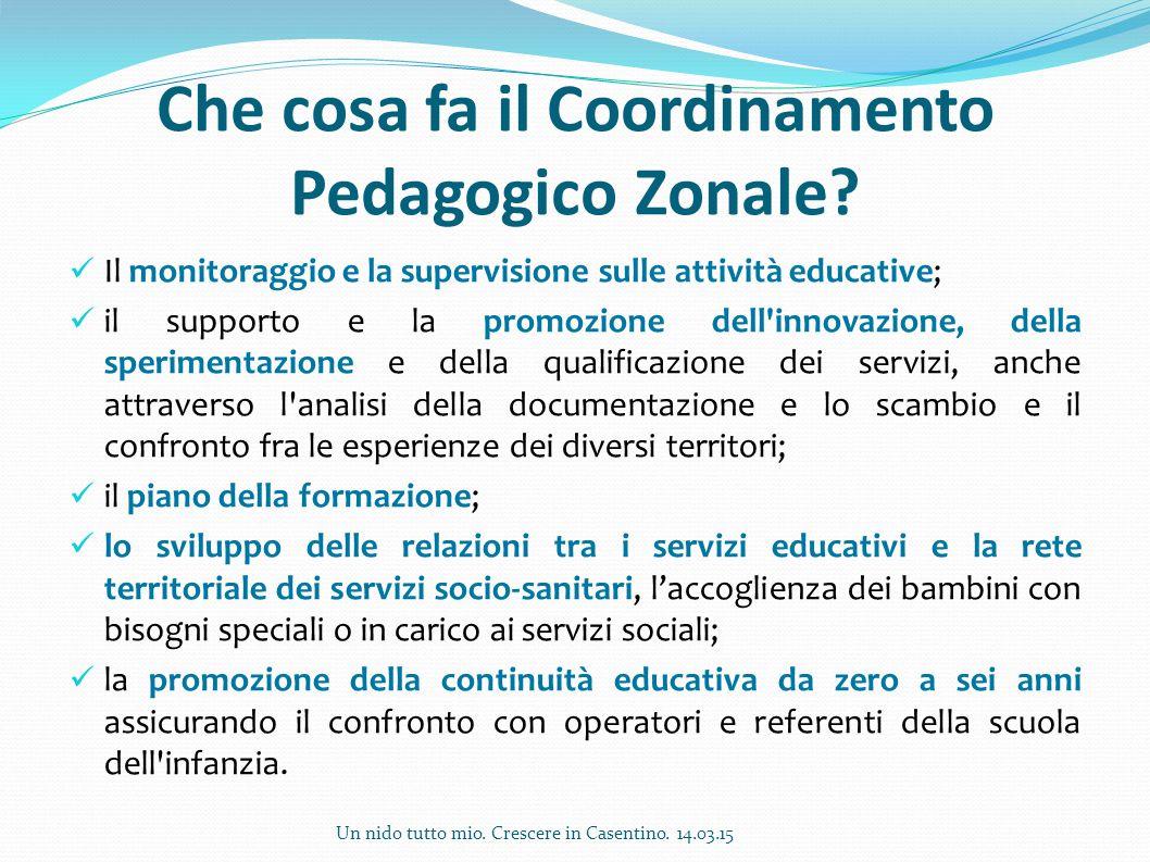 Che cosa fa il Coordinamento Pedagogico Zonale