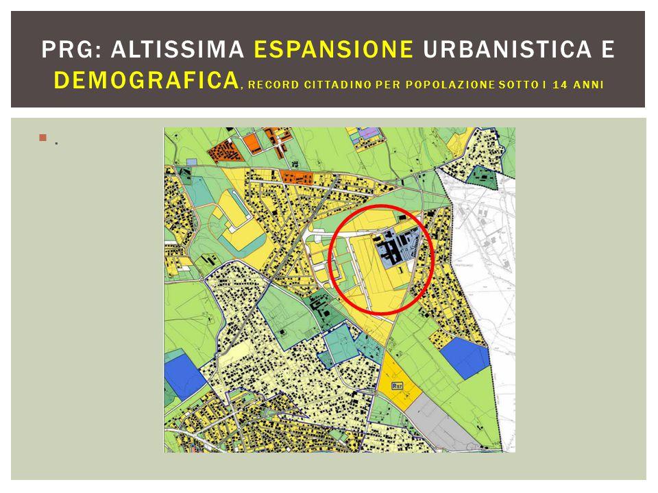 PRG: ALTISSIMA ESPANSIONE URBANISTICA E DEMOGRAFICA, record cittadino per popolazione sotto i 14 anni