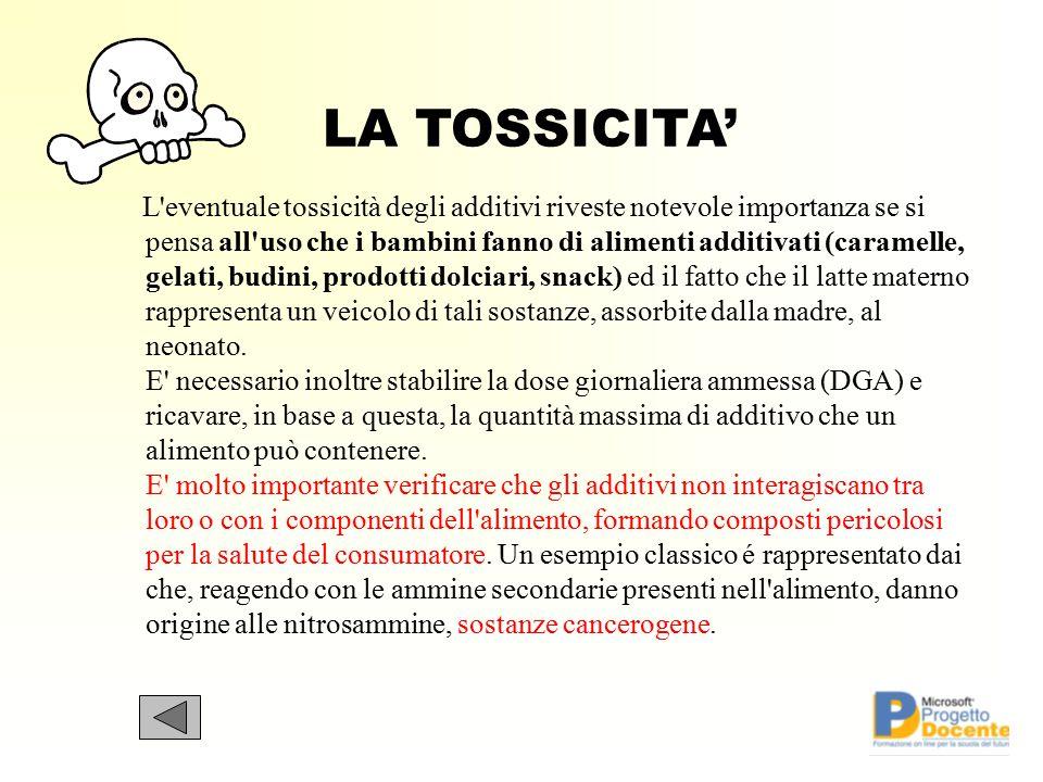 LA TOSSICITA'