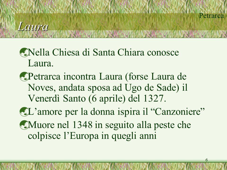 Laura Nella Chiesa di Santa Chiara conosce Laura.